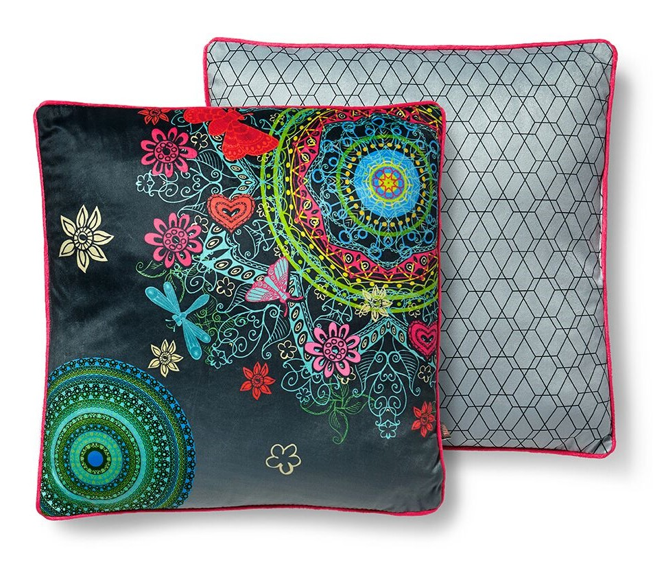 Home multicolor decorative pillow with stuffing Hip Freya 48x48cm