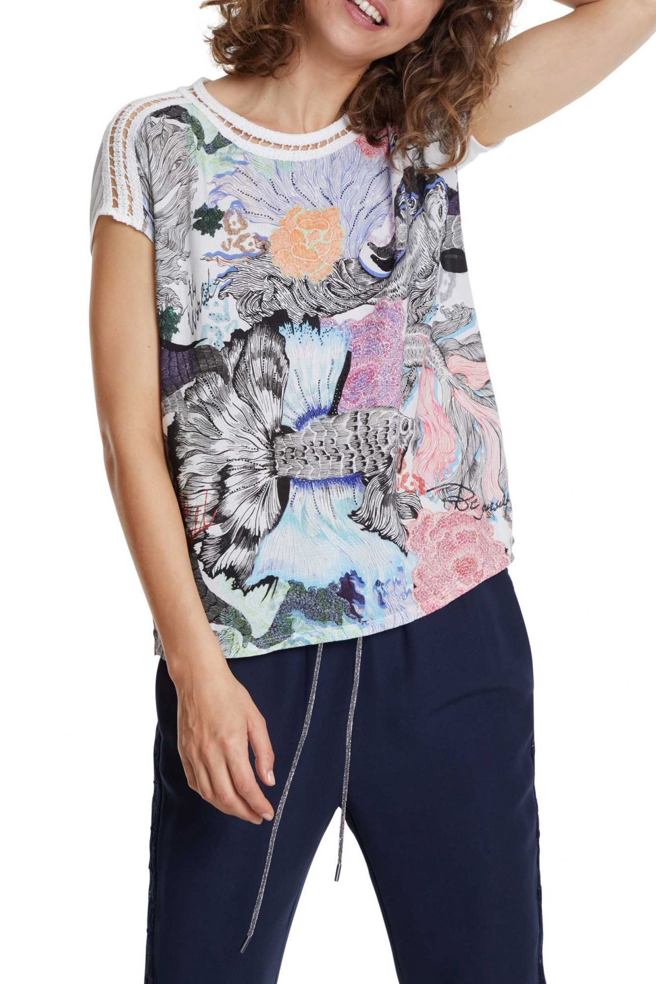 multicolor T-shirt TS Viena with colourful logo
