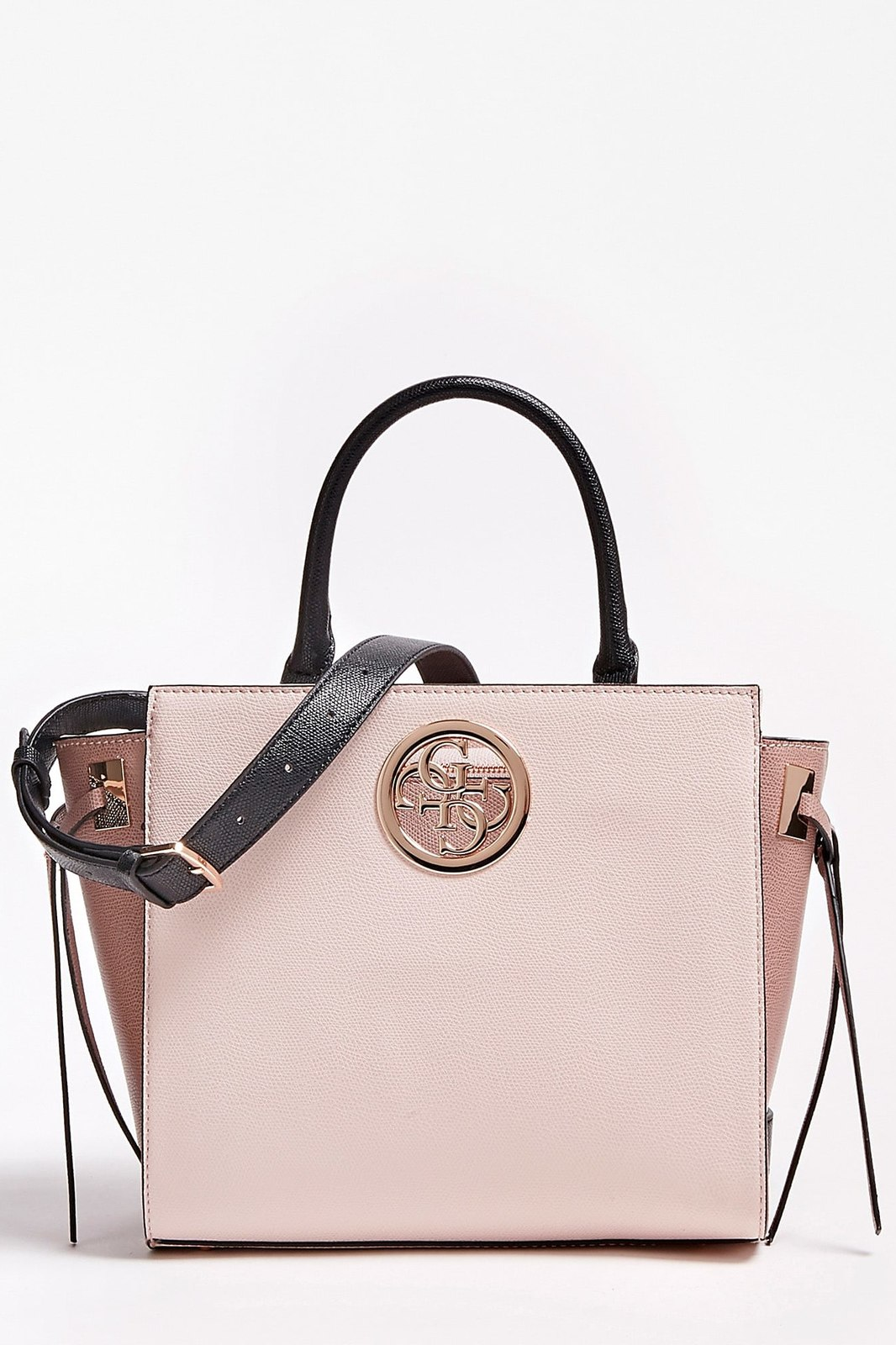 Guess Powder Pink Handbag Open Road Colourblock
