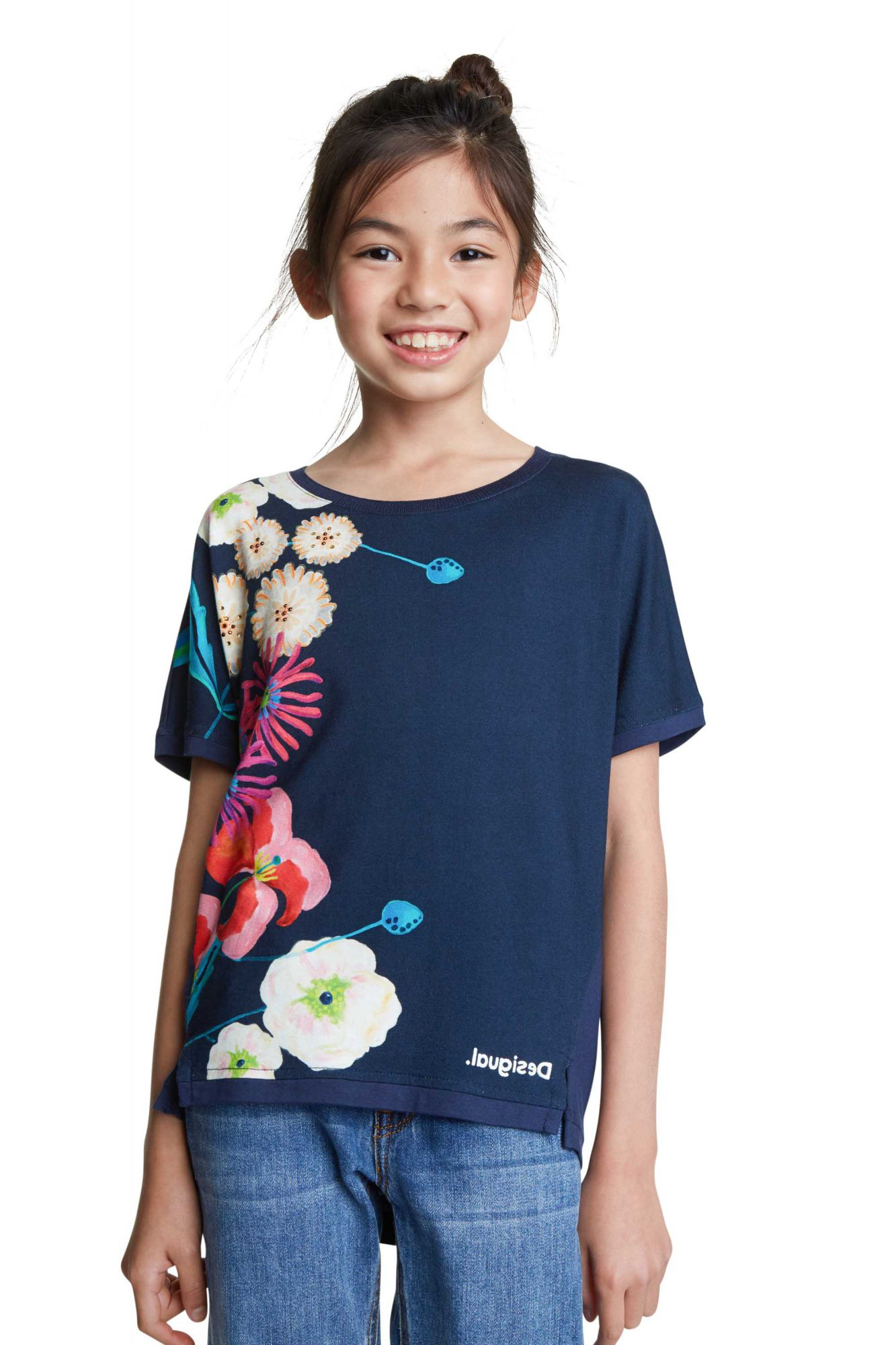 Desigual blue girls´ t-shirt TS Rhodeisland