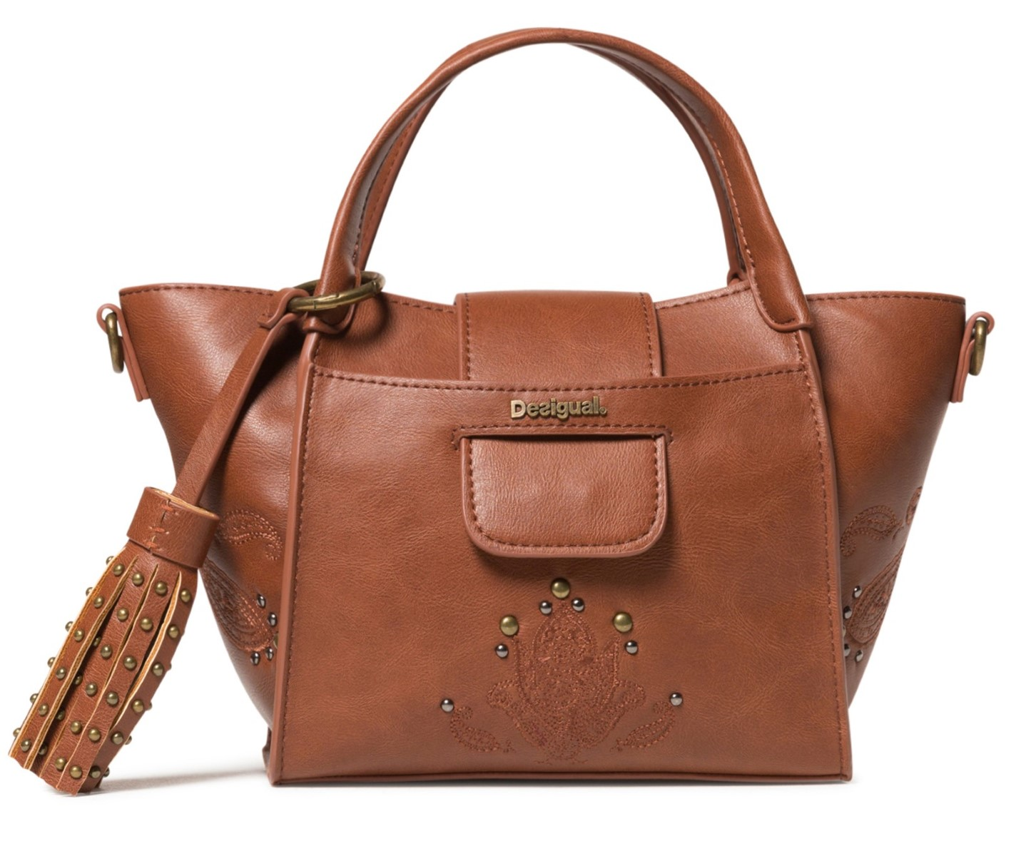 Desigual Small Brown Handbag Bols Soft Henna Zaria Baby