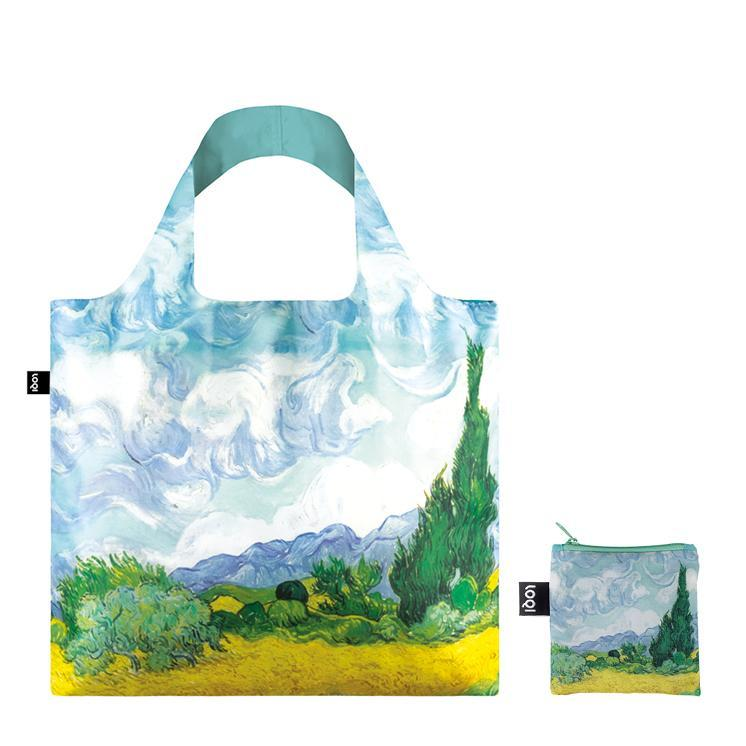 Loqi multicolor bag Vincent Van Gogh A Wheat bField with Cypresses