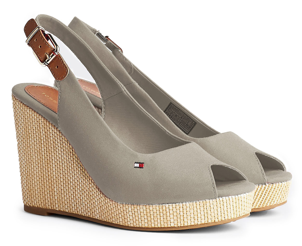 Tommy Hilfiger beige shoes on a wedge