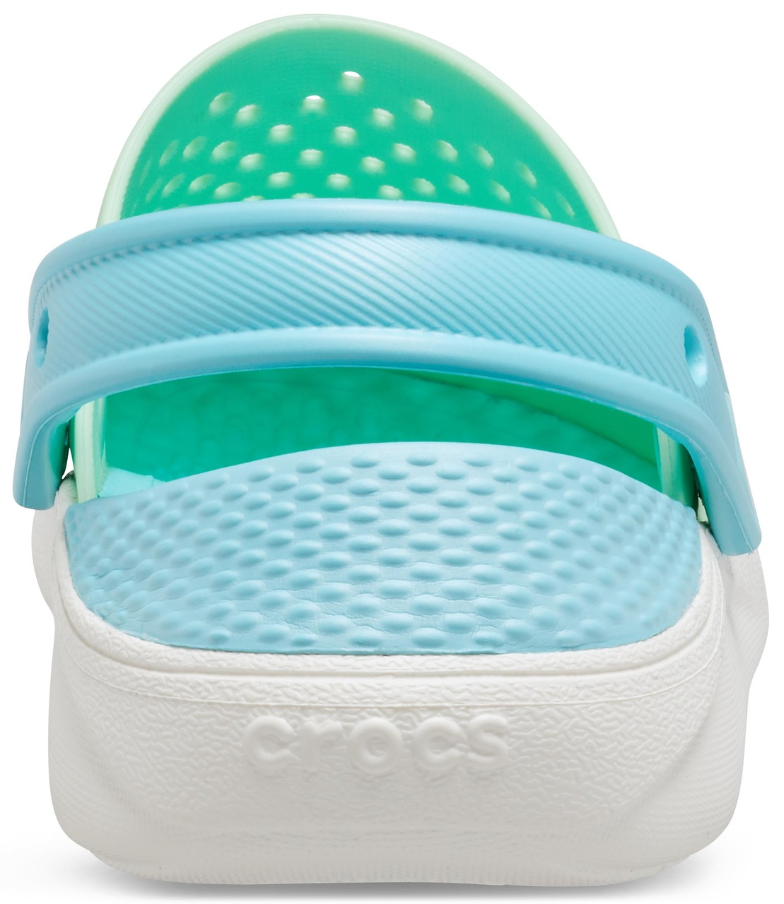 Crocs green unisex shoes LiteRide Clog Neo Mint/White