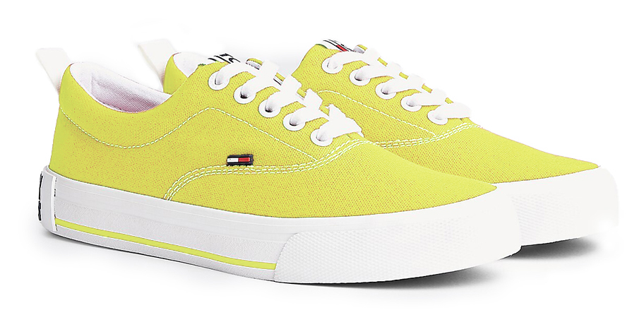 Tommy Hilfiger yellow sneakers Lowcut