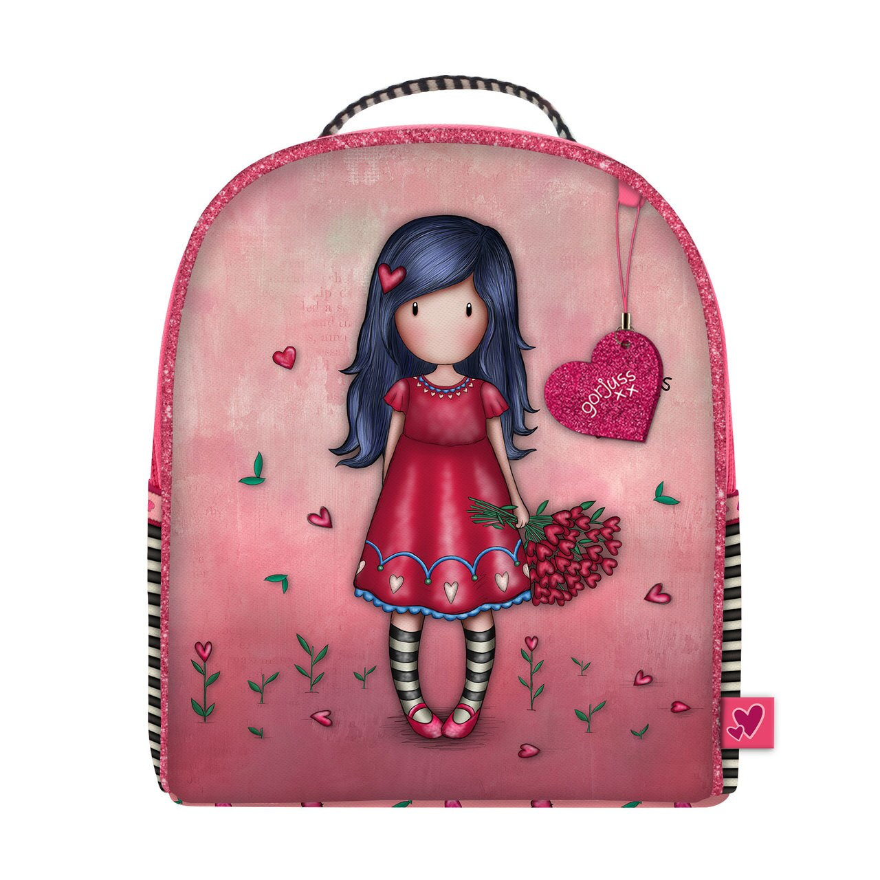 Santoro red small backpack Gorjuss Sparkle&Bloom Love Grows