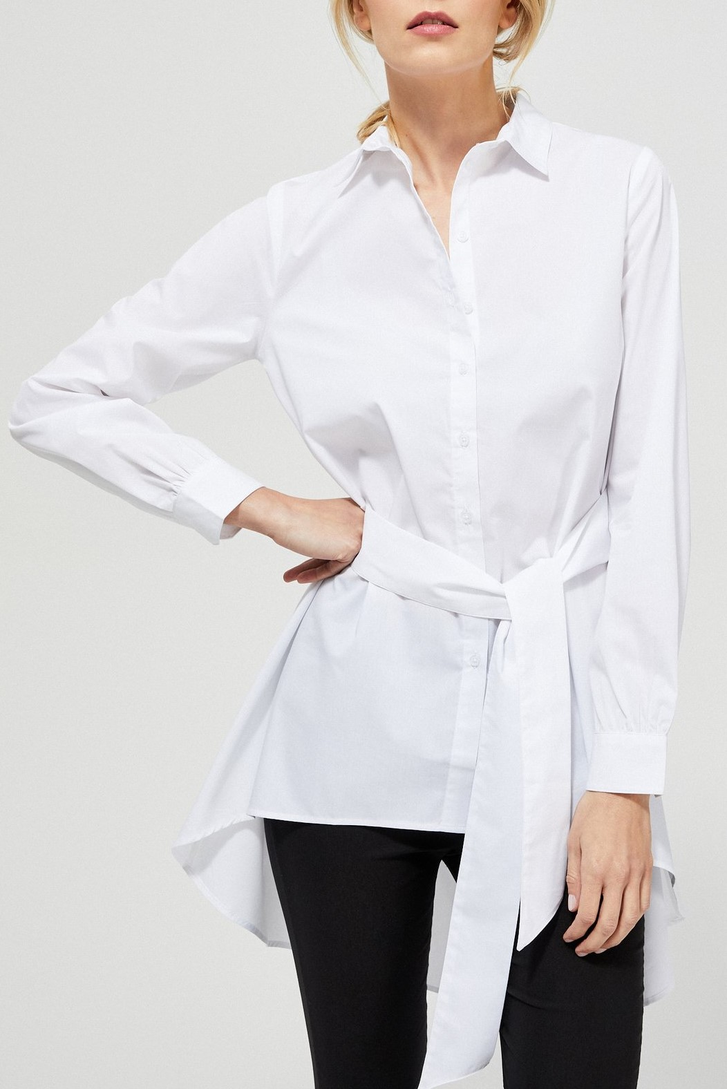 Moodo white button-up shirt
