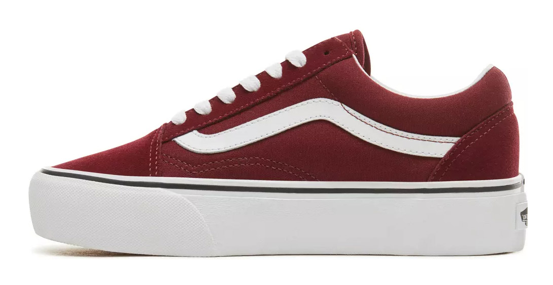 Vans wine / bordo sneakers with platform Old Skool Platform