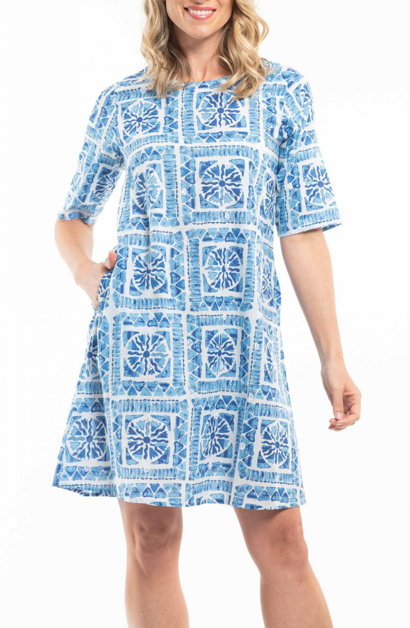 Orientique blue dress Ithca