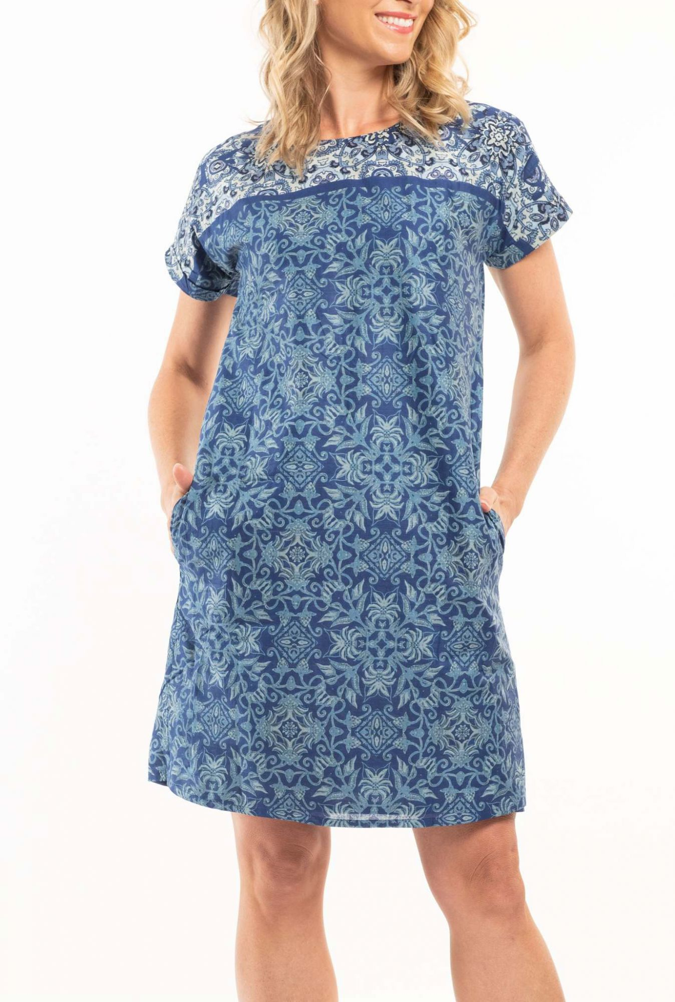 Orientique blue dress Andros
