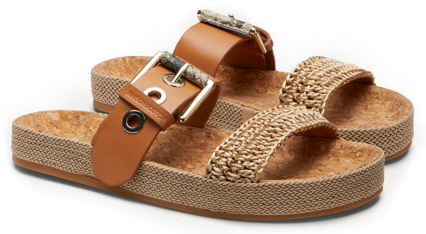 Scotch & Soda beige slippers Yolin Cognac