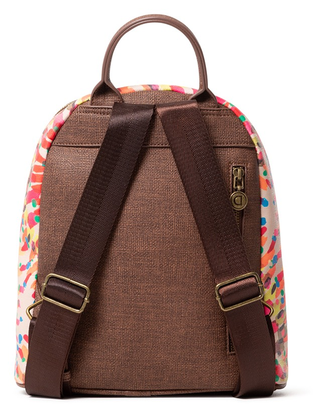Desigual multicolor small backpack Back Bruselas Nazca Mini