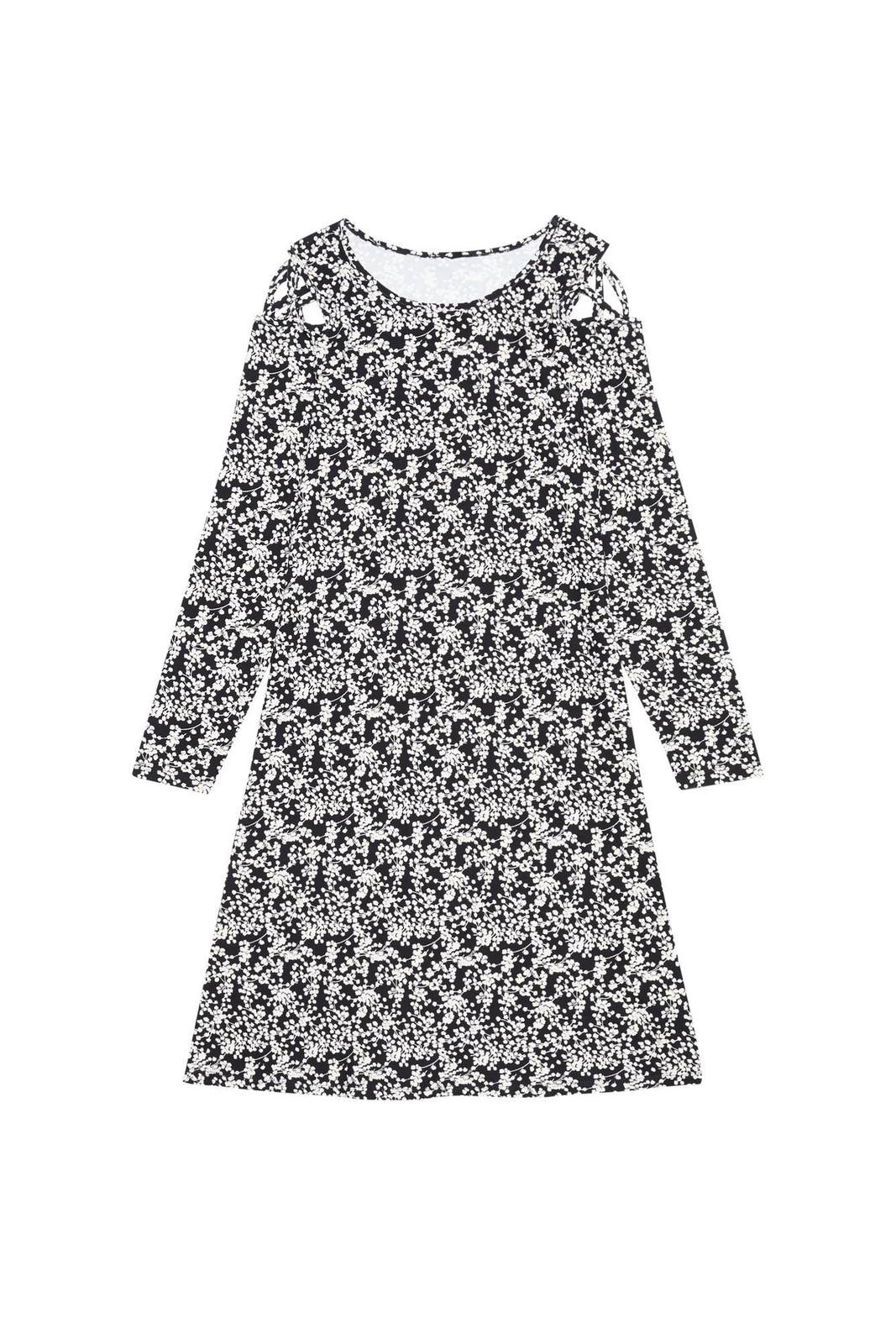 Moodo spring dress with decorative cuts