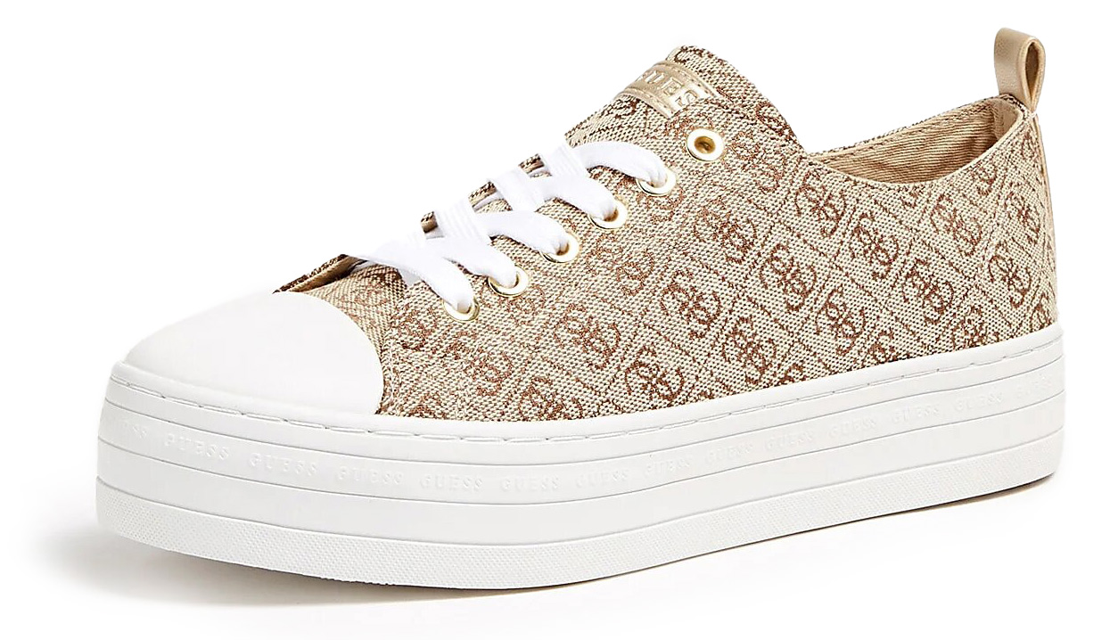 Guess beige sneakers with platform