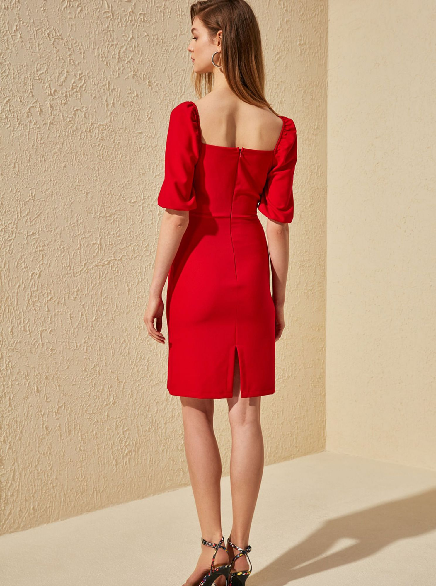 Trendyol red summer dress