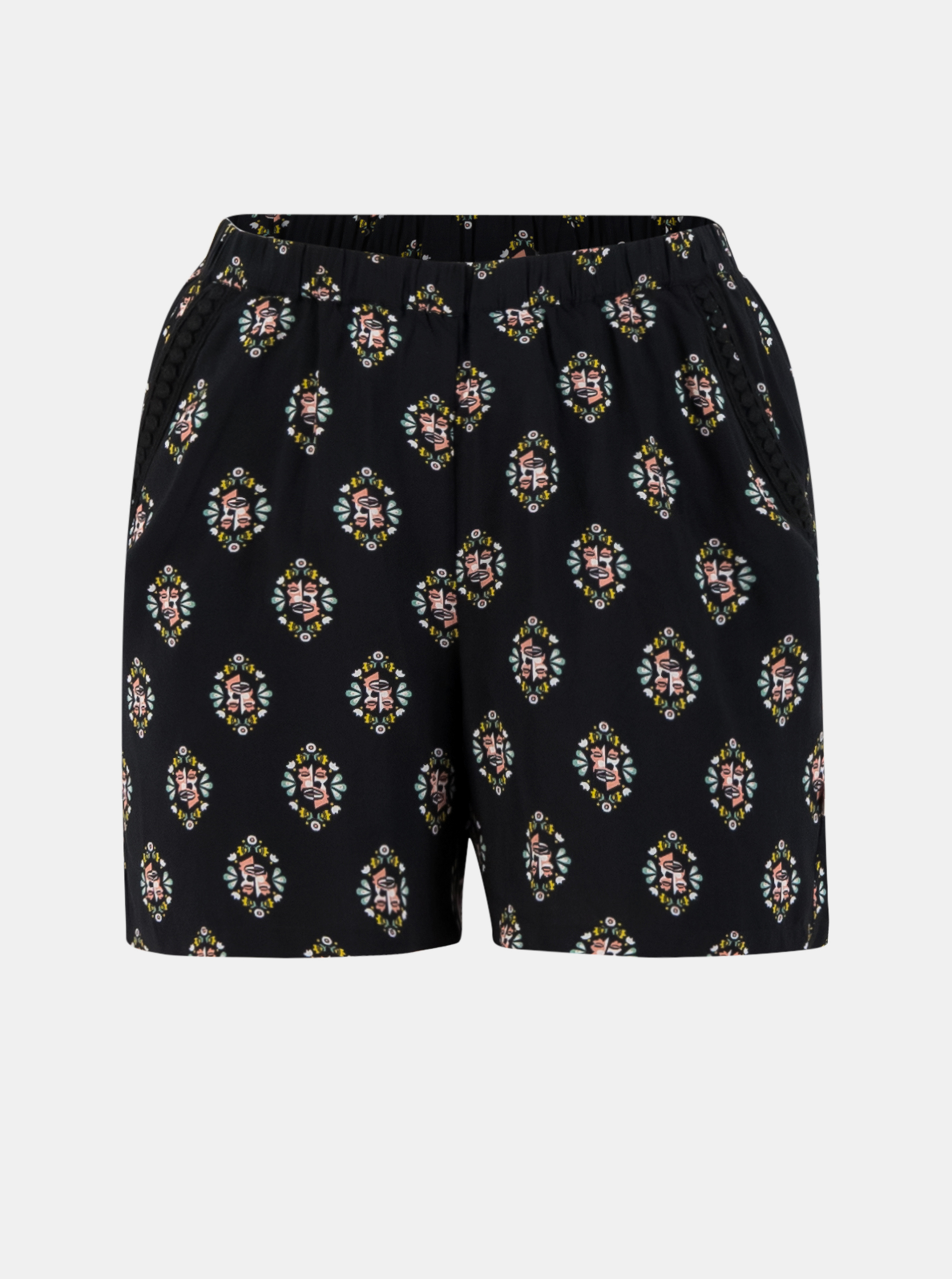Blutsgeschwister black shorts with colourful motives