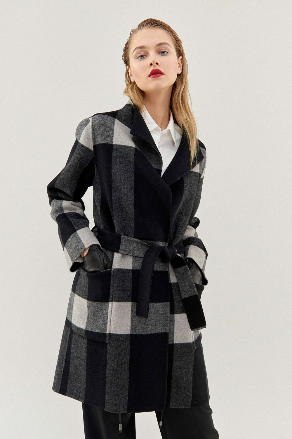 Pietro Filipi reversible Coats with chequered pattern
