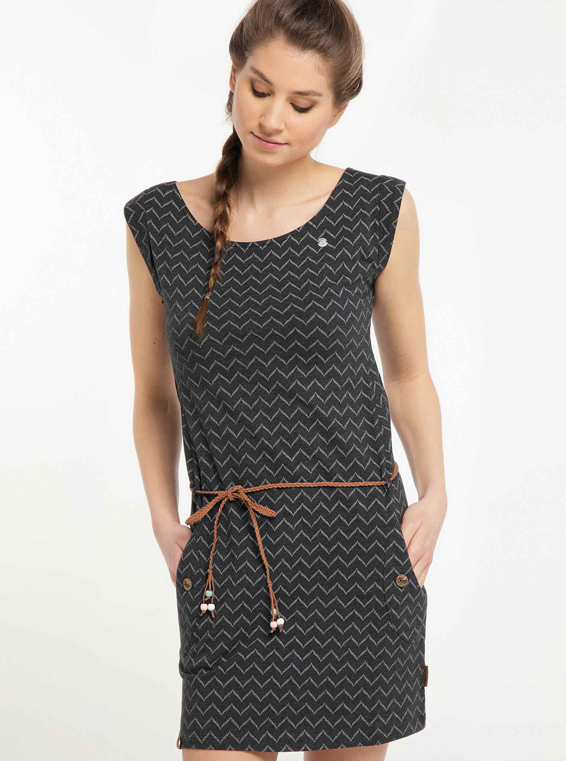 Ragwear black dress patterned
