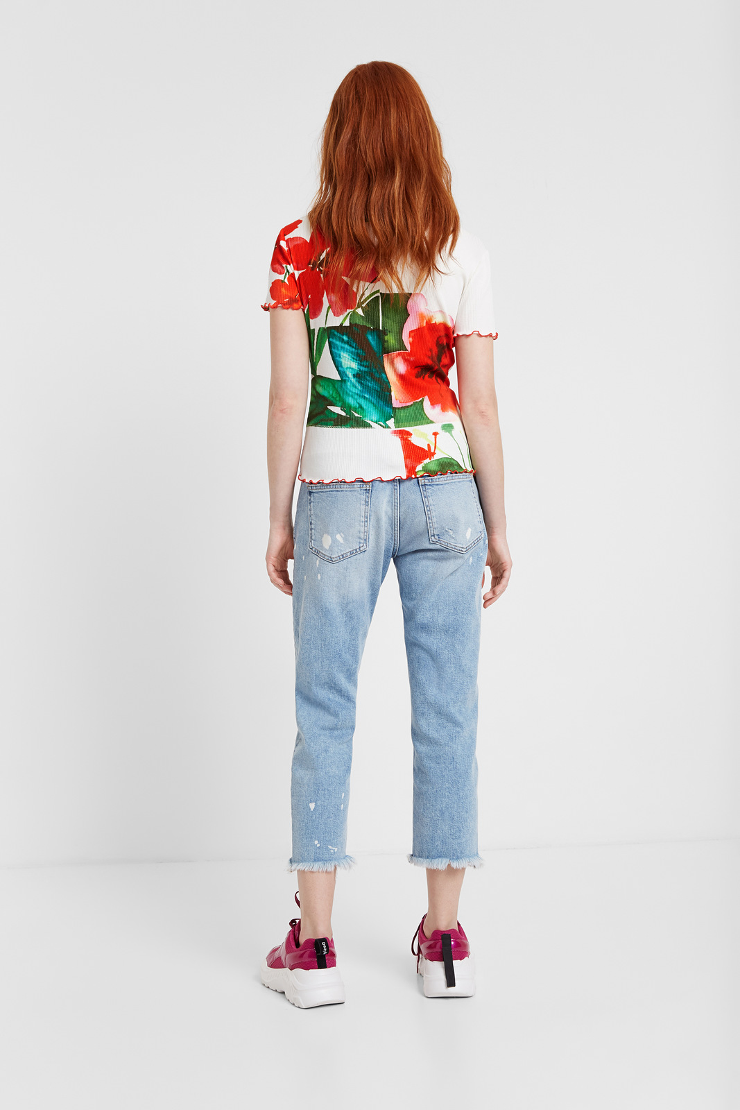 Desigual multicolor T-shirt TS Summer Garden