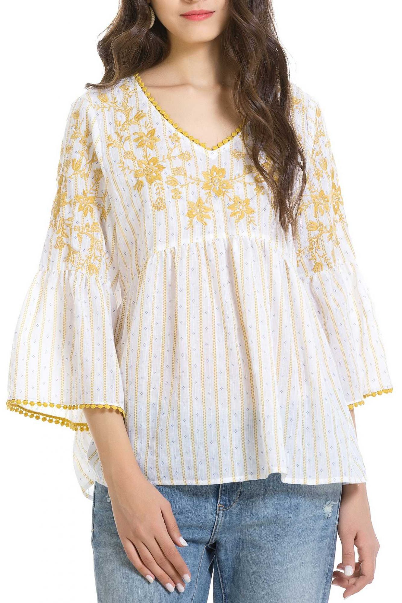 Anany white top Maturín with embroidery