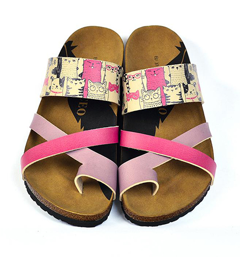 Calceo pink slippers Thong Sandals