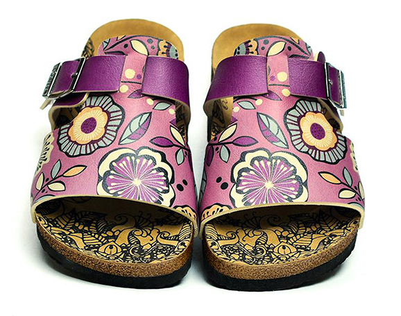 Calceo purple slippers Casual Slippers Purple