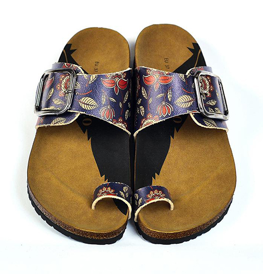 Calceo blue slippers Thong Sandals Navy