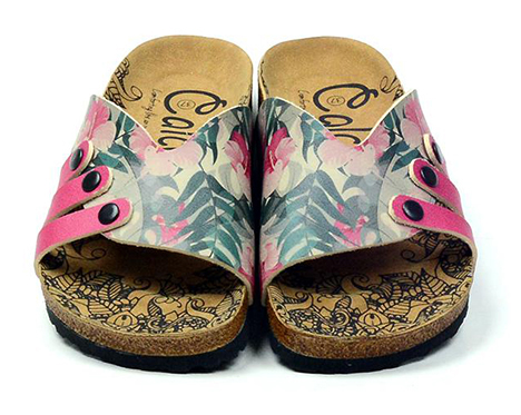 Calceo multicolor slippers Casual Slippers Hibiscus