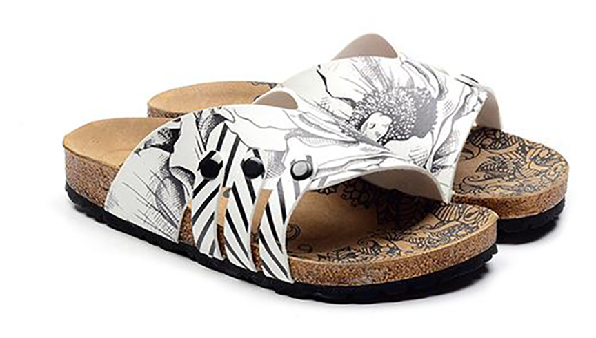 Calceo white slippers Casual Slippers BW
