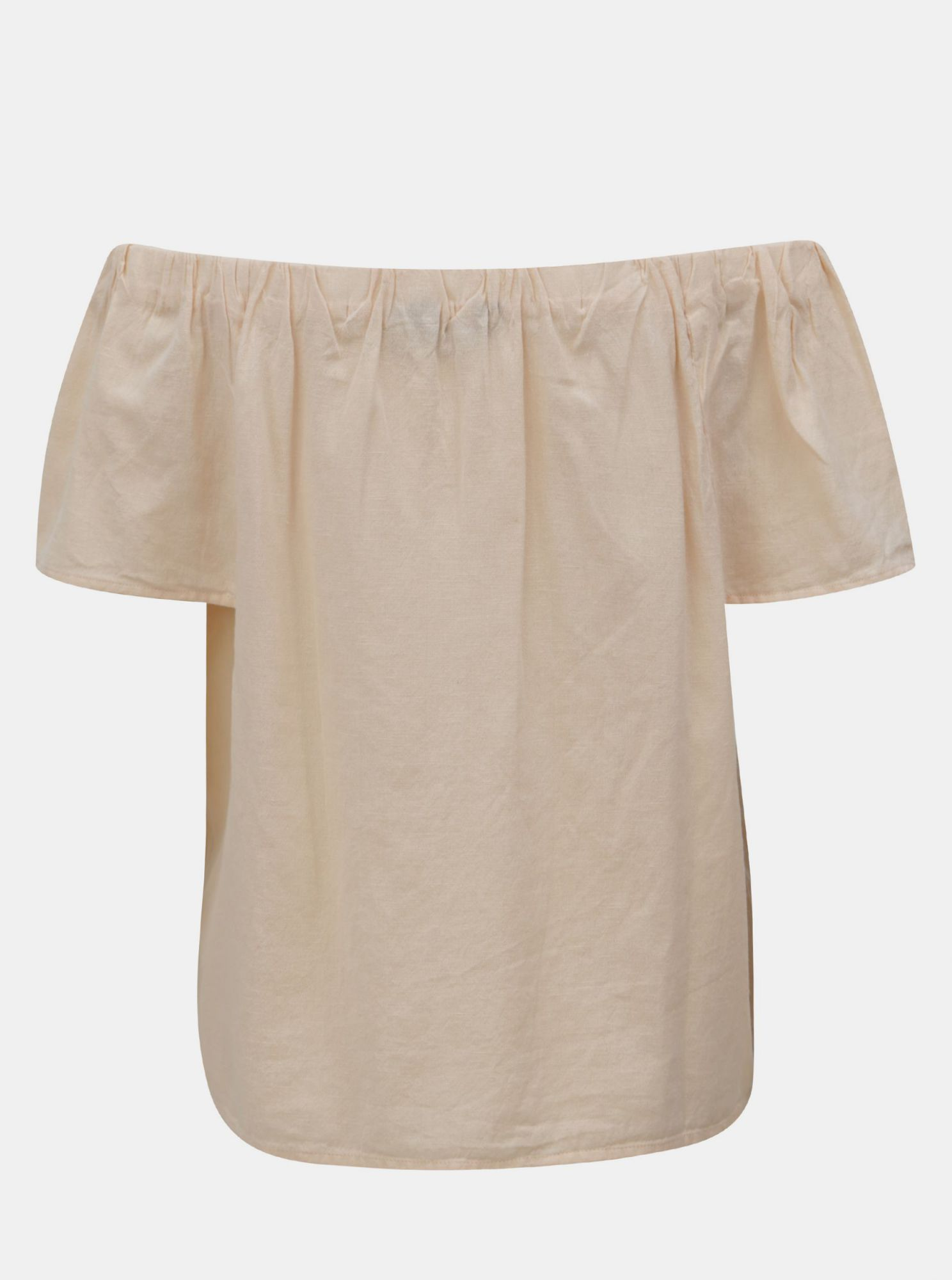 Apricot blouse with floral embroidery and exposed shoulders Dorothy Perkins