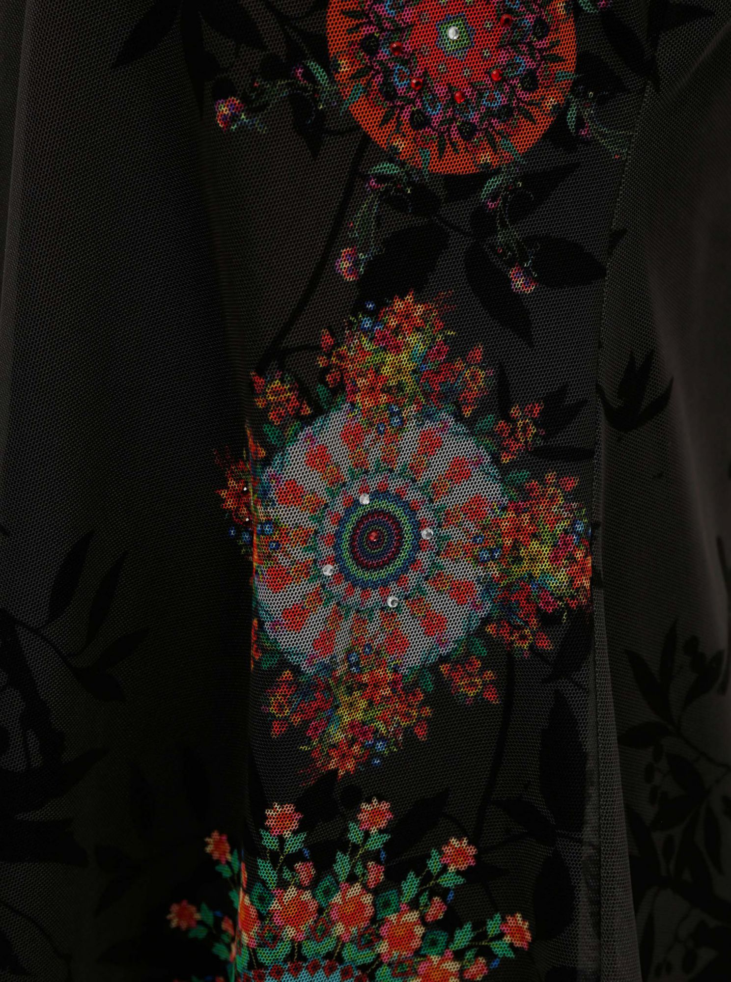 Black patterned top Desigual