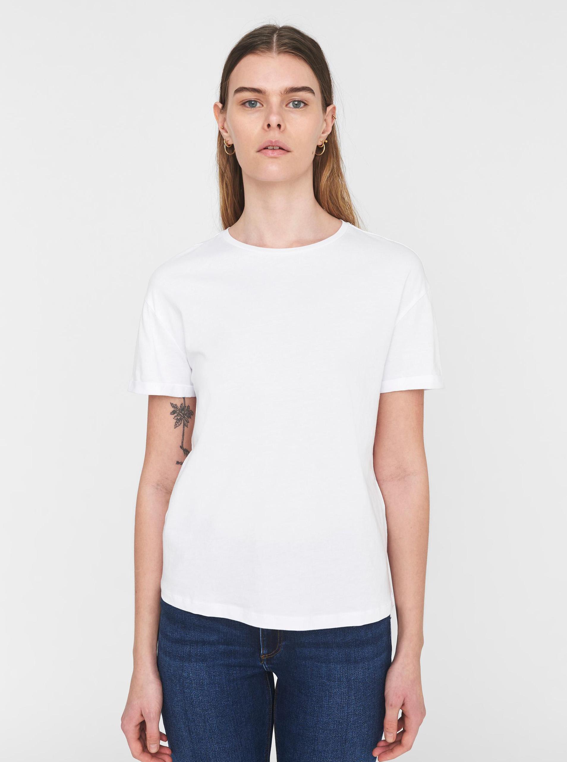 White basic T-shirt Noisy May Brandy