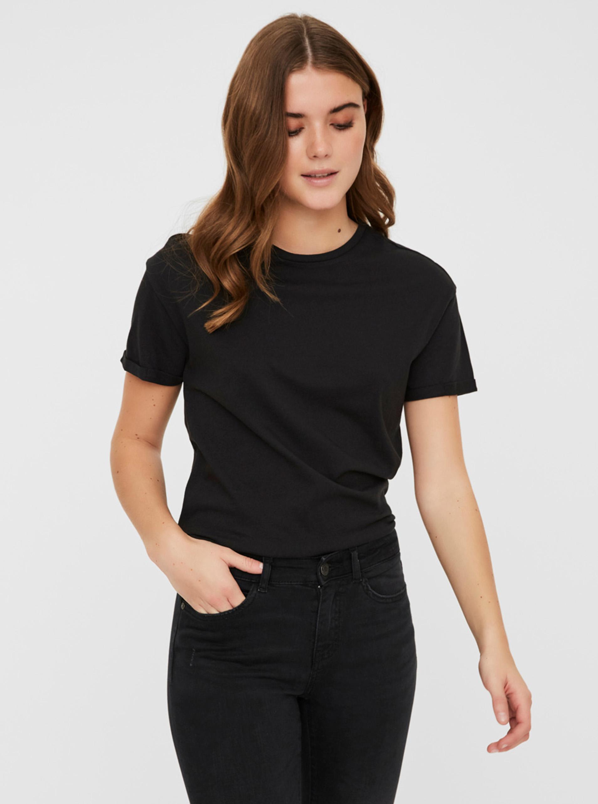 Black basic t-shirt Noisy May Brandy