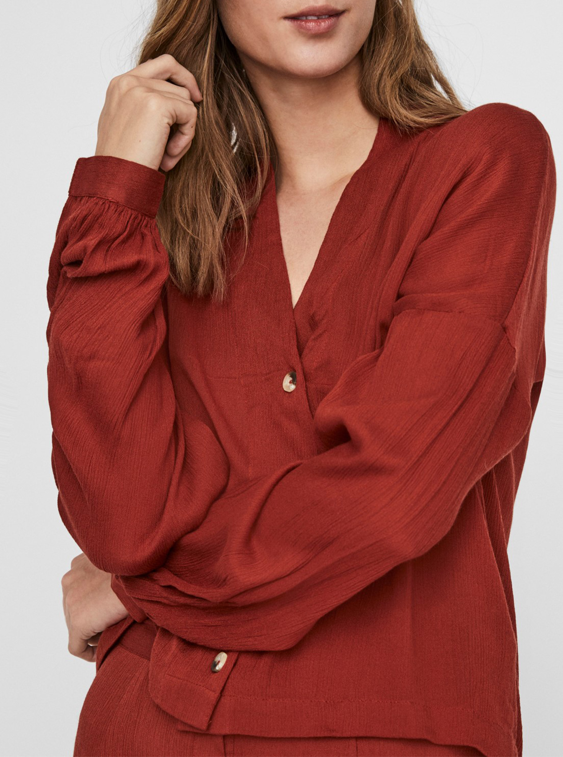 Noisy May Fleur red blouse