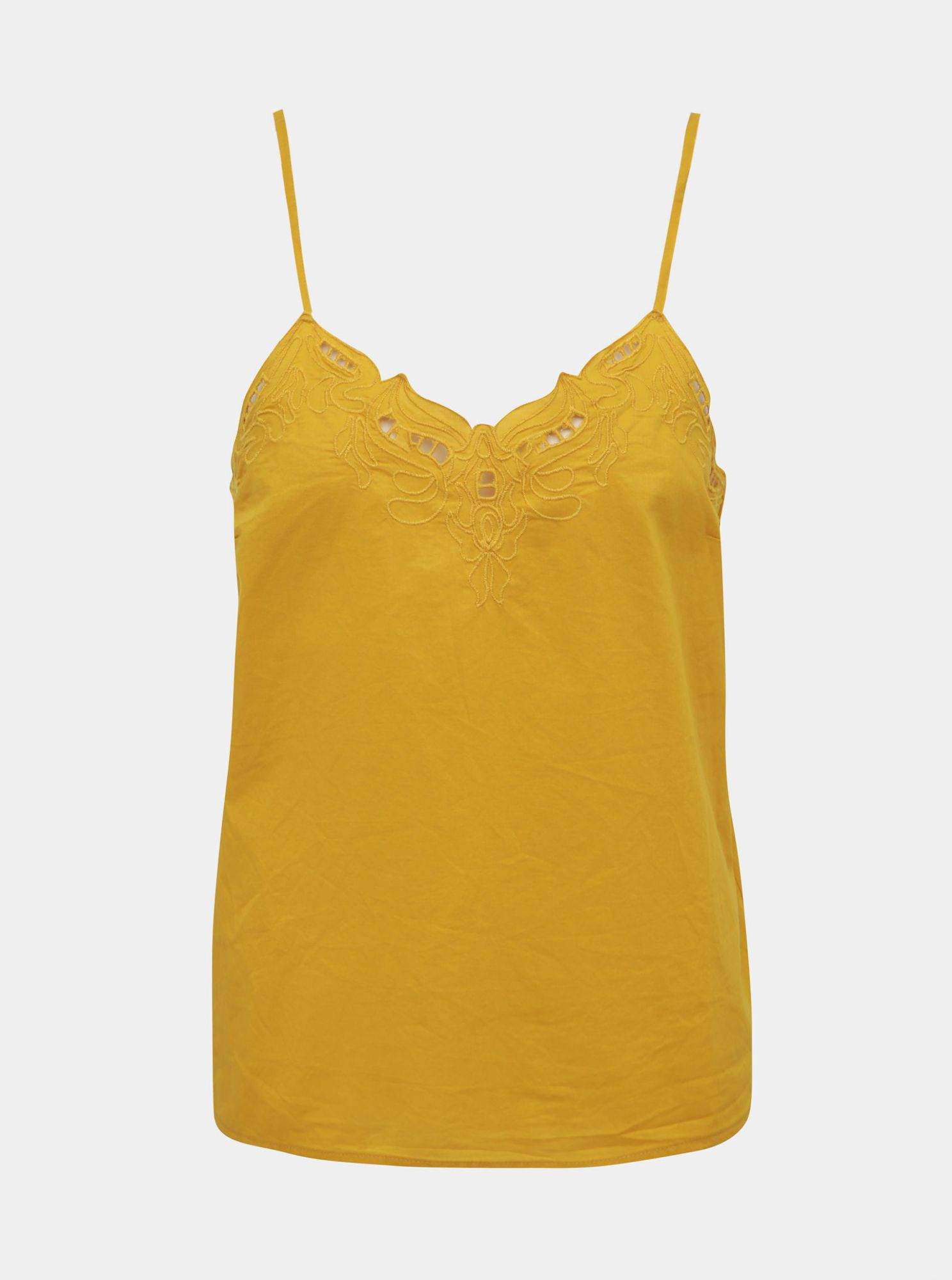 Yellow tank top with lace ONLY Sixty