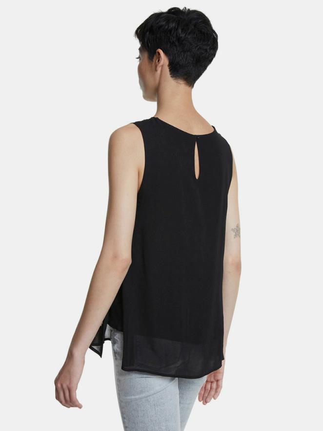 Desigual black patterned blouse
