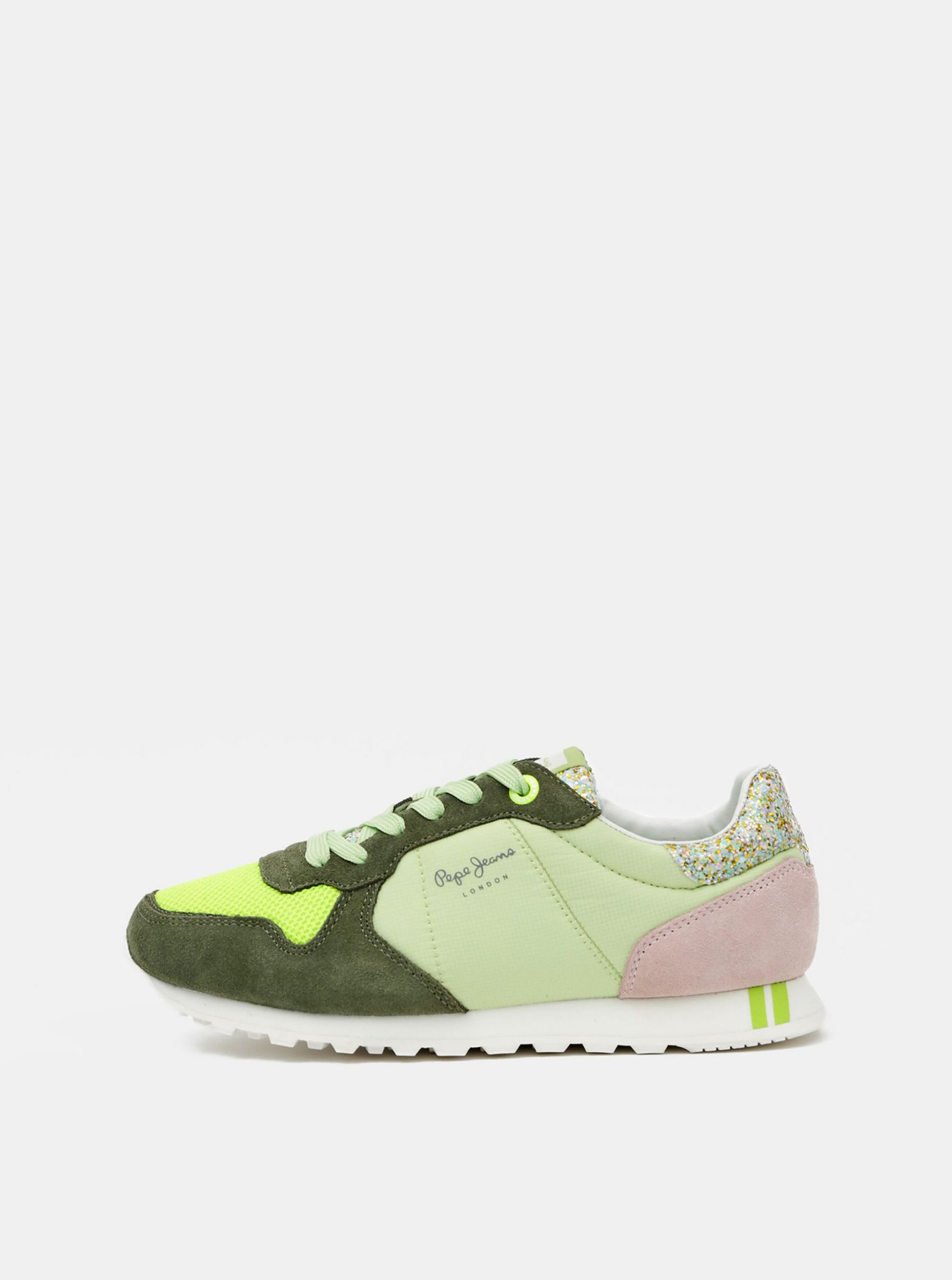 Green Women 39 S Suede Sneakers Pepe Jeans Women S Shoes Differenta Com