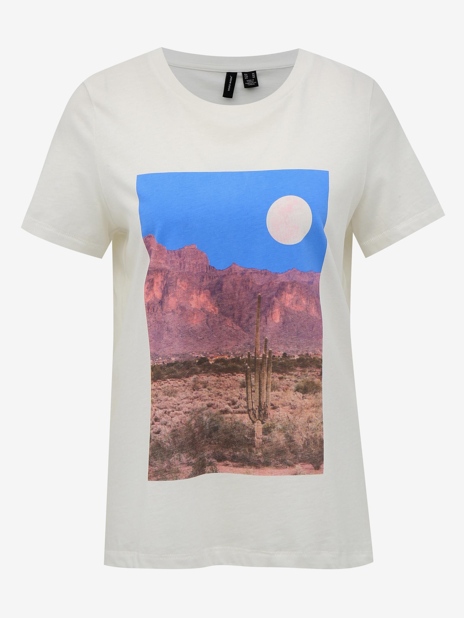 Vero Moda white T-shirt Desert with print