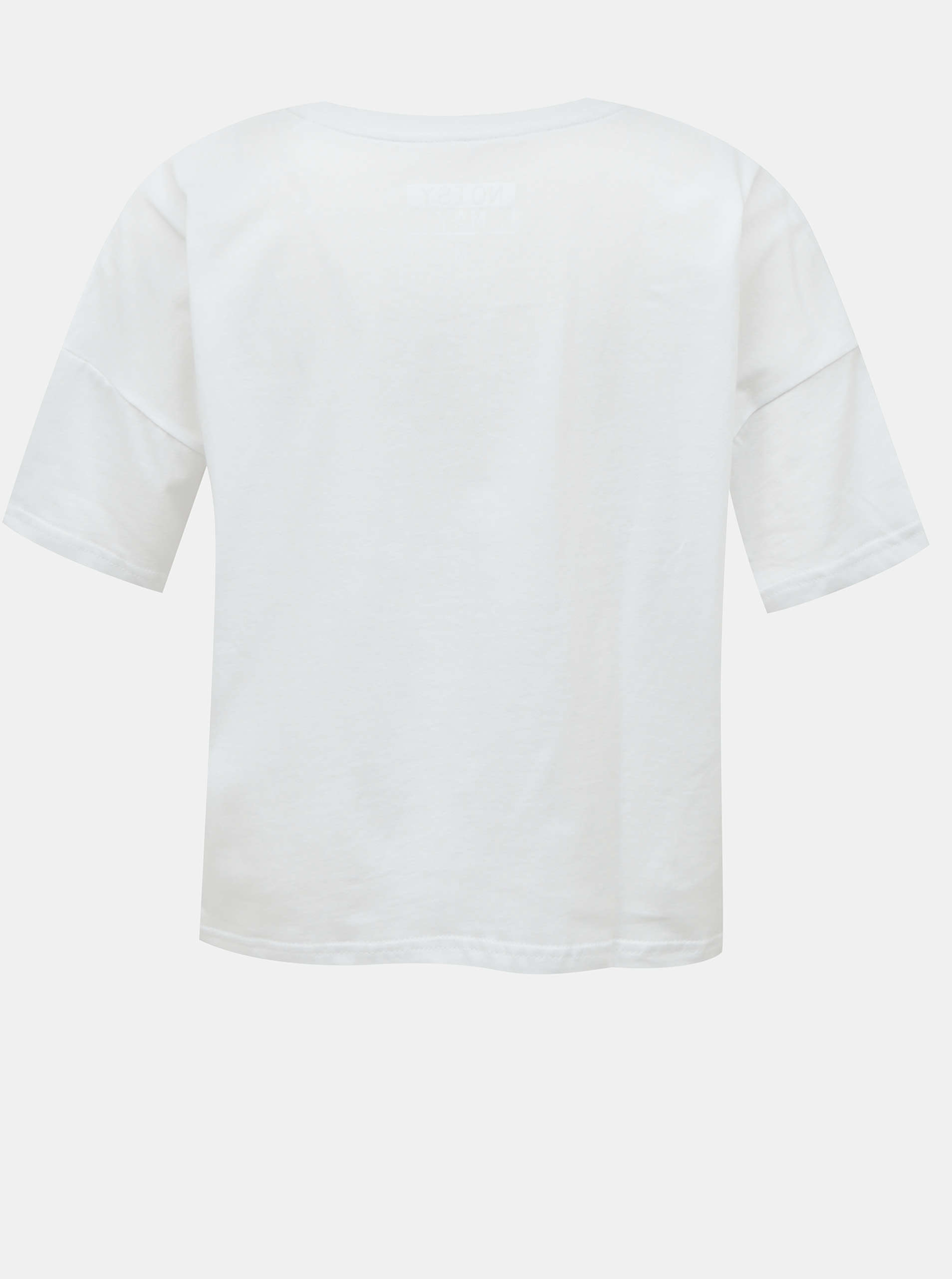 White short t-shirt with Noisy May Ken print