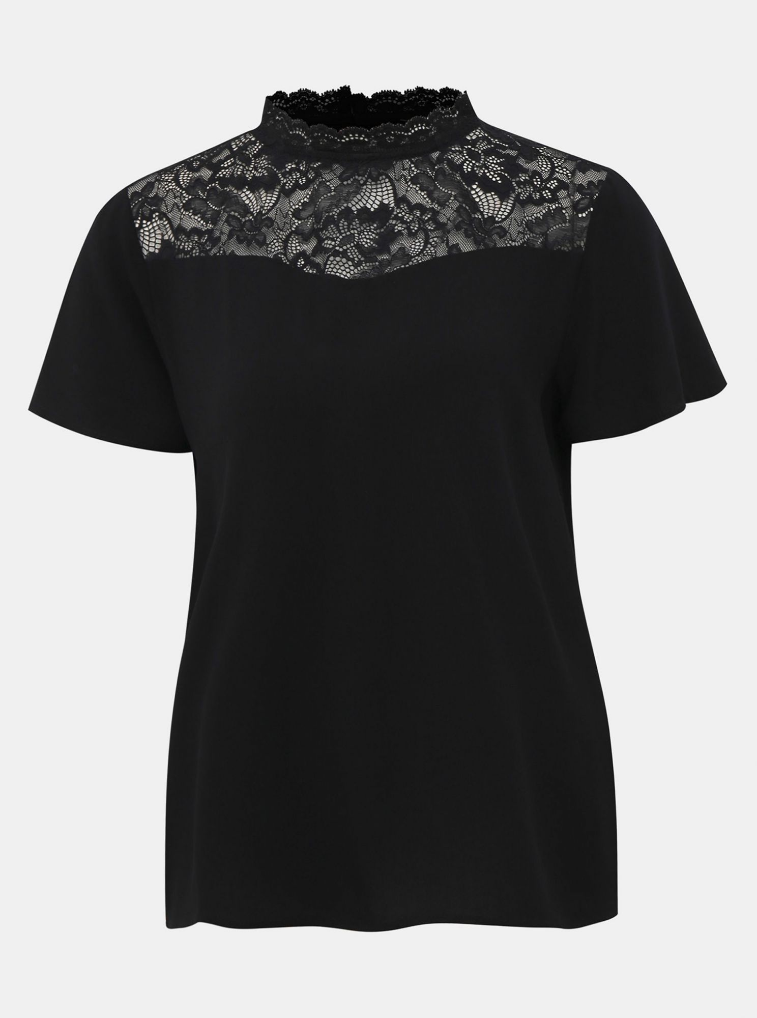Black top with lace ONLY First