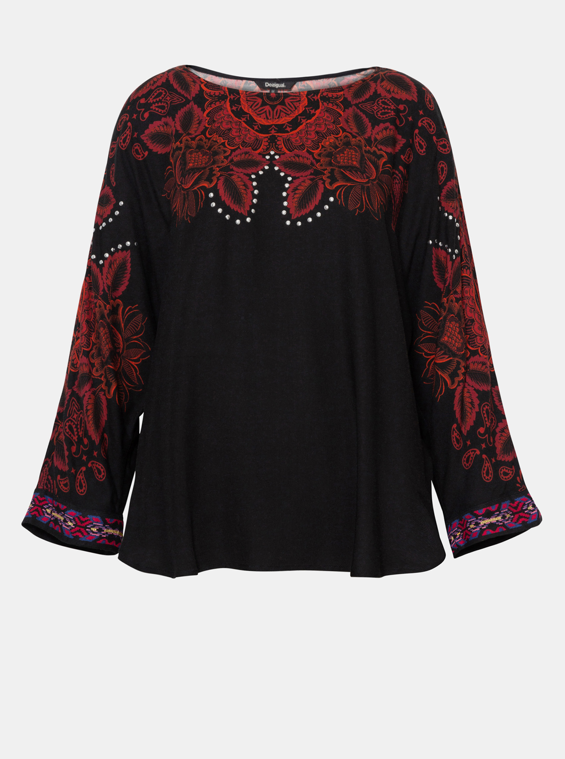 Black patterned blouse Desigual Lumbe
