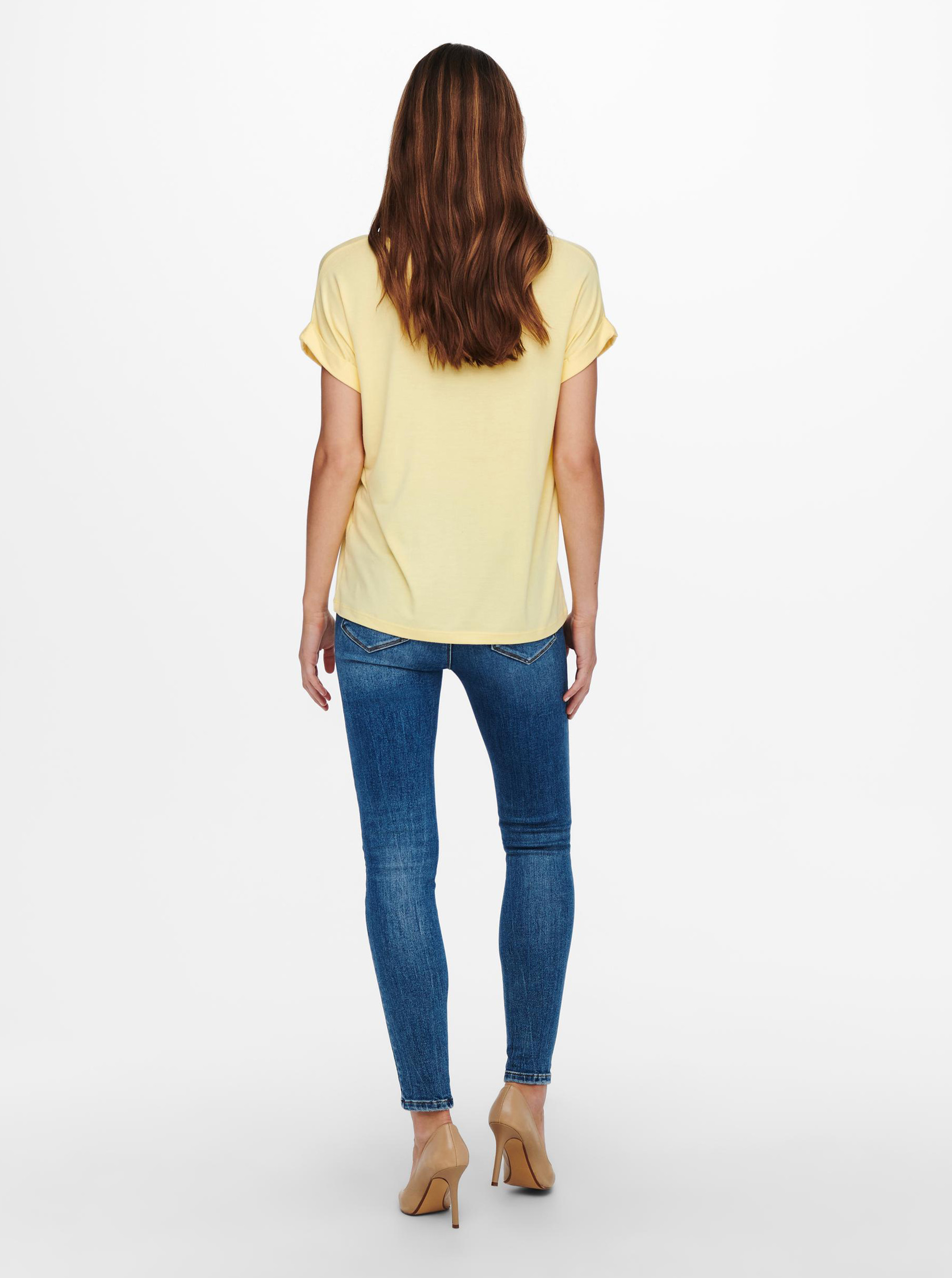 Yellow basic t-shirt ONLY Moster