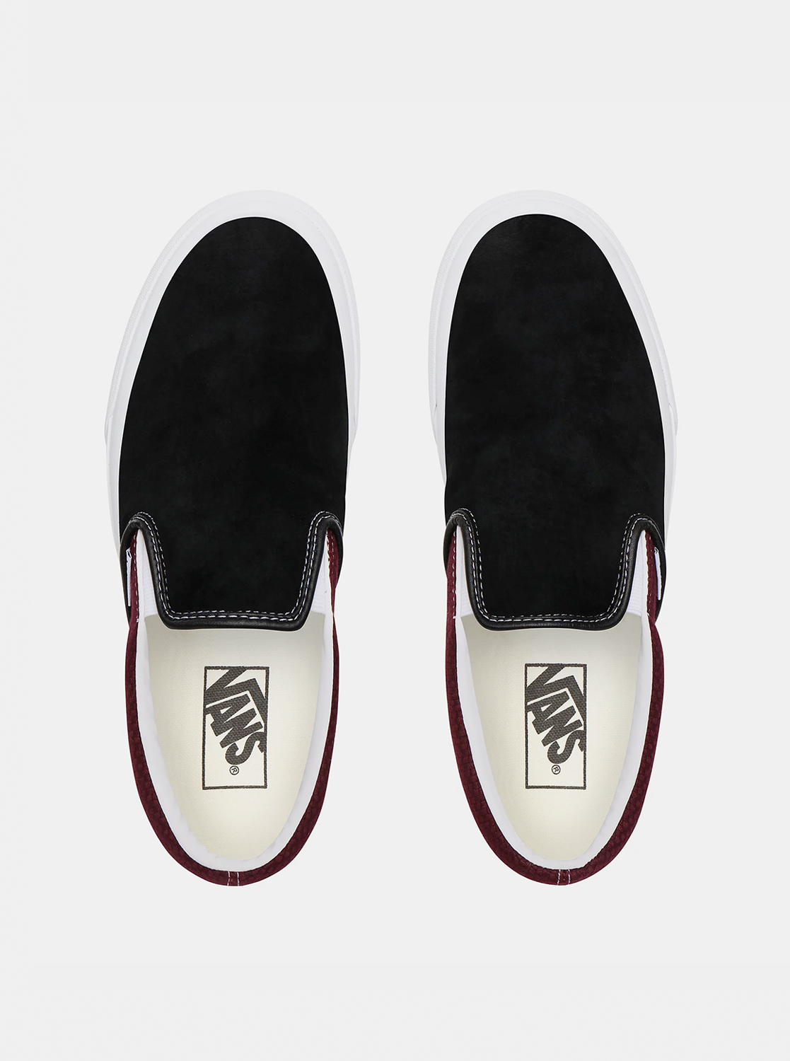 Vans leather men´s slip on sneakers