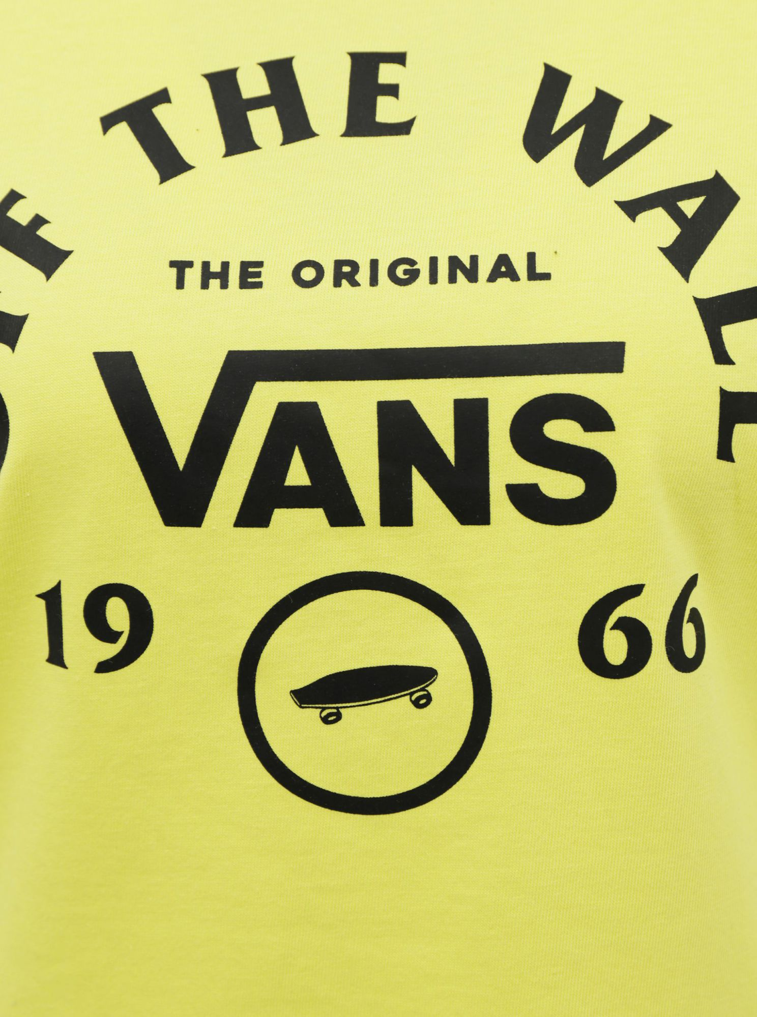 Vans yellow women´s T-shirt with a black logo