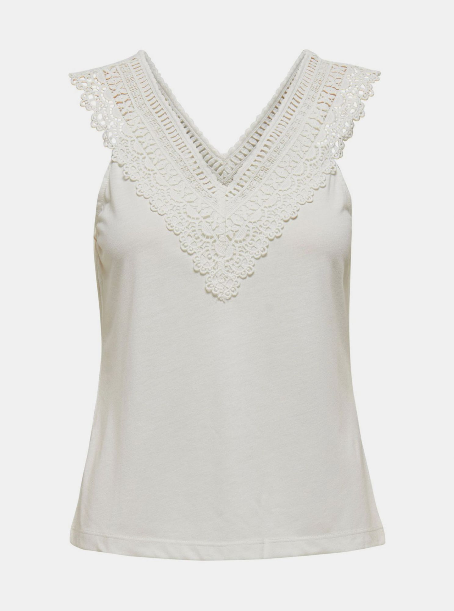 White top with lace ONLY Victoria
