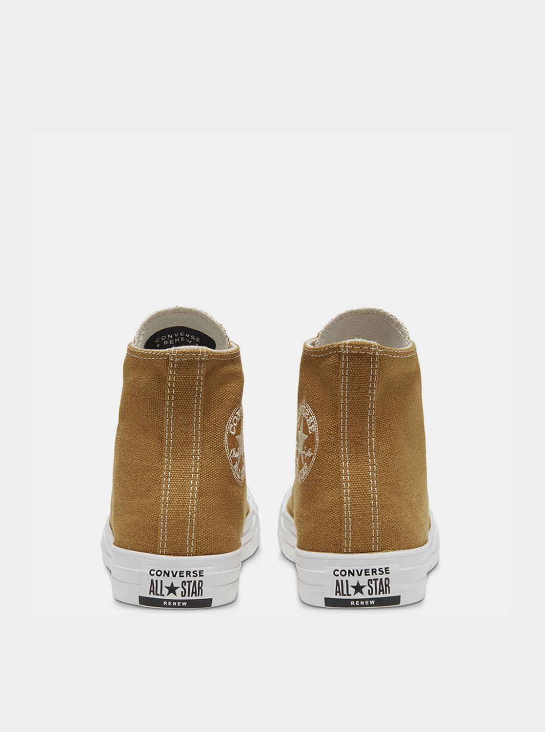 Brown ankle sneakers Converse Chuck