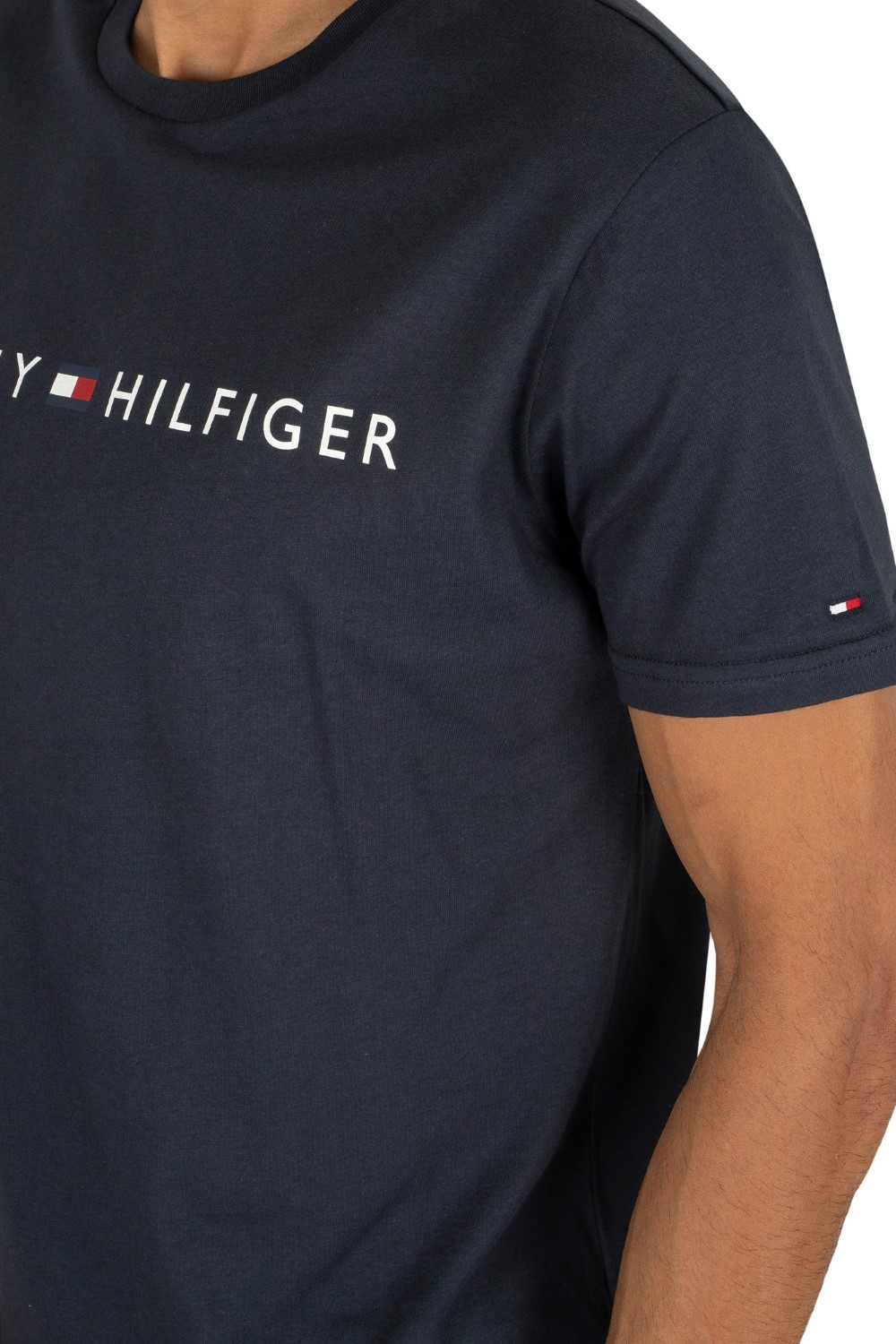 Tommy Hilfiger blue t-shirt CN SS Tee Logo Flag with logo