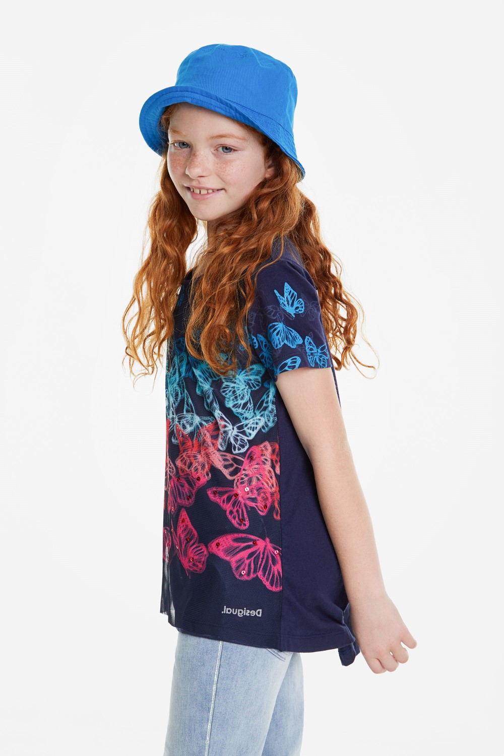 Desigual blue girls´ t-shirt Newport