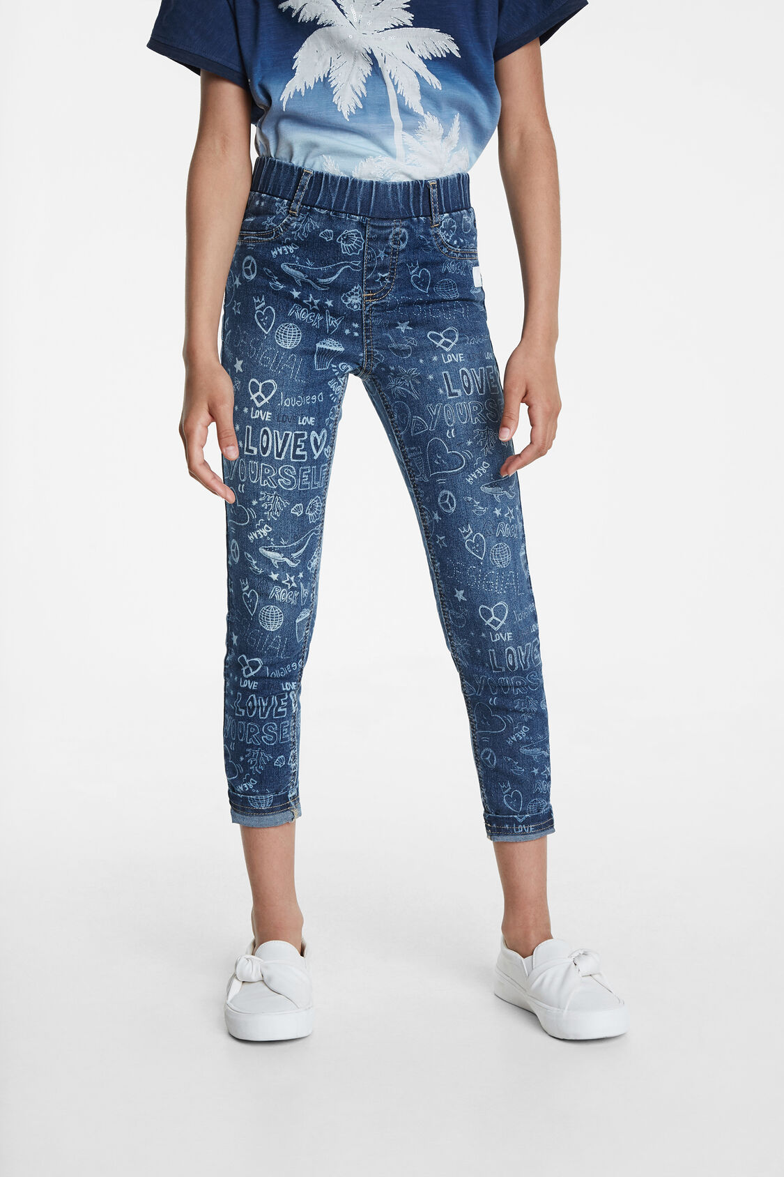 Desigual blue girl´s trousers