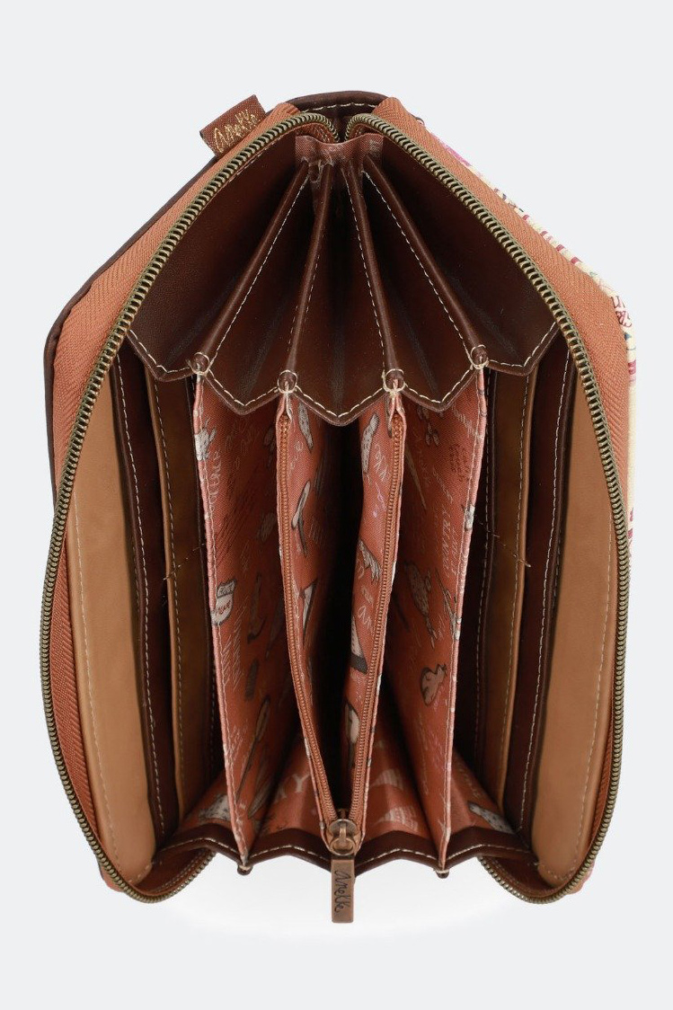 Anekke brown wallet Arizona with embroidery